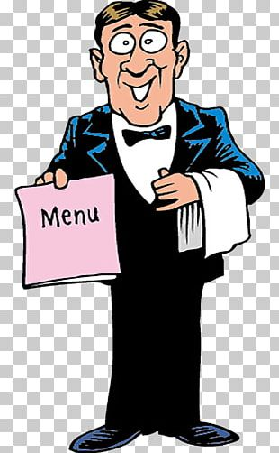 Waiter Restaurant Illustration PNG