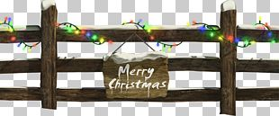 Santa Claus Christmas Decoration Fence Christmas Lights PNG