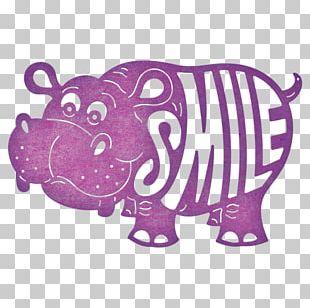 Paper Pig Hippopotamus Die Cutting PNG