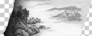Shan Shui Ink Wash Painting Chinese Painting PNG
