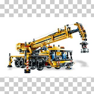 Lego Technic Mobile Crane Toy Block PNG