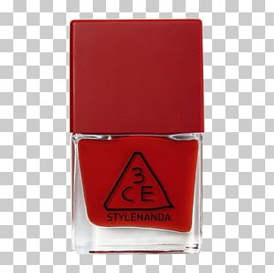 Nail Polish Lipstick Red Color PNG