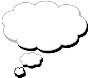Cloud Thought Speech Balloon PNG