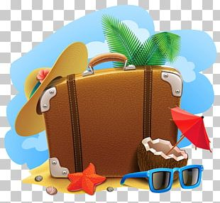 Travel Suitcase Summer Vacation PNG