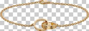 Love Bracelet Cartier Colored Gold PNG