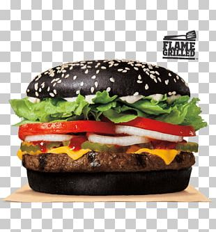 Hamburger Black Bun Whopper Fast Food Burger King PNG