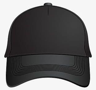 Black Baseball Cap Front PNG