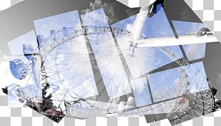 London Eye Collage Photography PNG