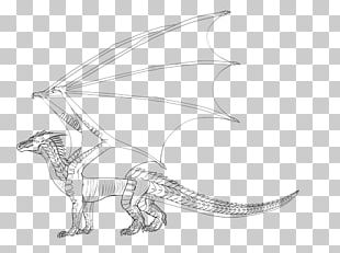 Wings Of Fire Line Art Drawing Dragon PNG