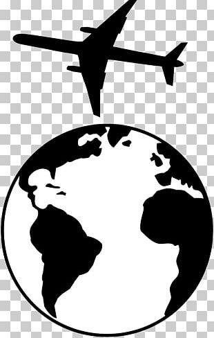 Earth Globe Black And White PNG