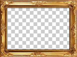 Frames Mirror Painting Wood Gold Leaf PNG