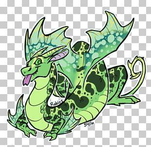 Reptile Dragon Line Art PNG