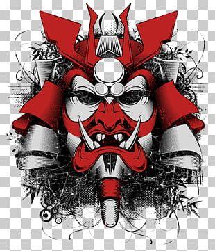 T-shirt Samurai Mask Men-yoroi Sticker PNG