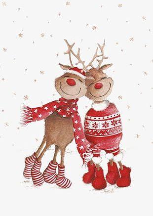 Christmas Elk PNG