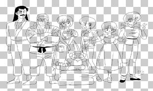 Ranma ½ Akane Tendo Line Art Sketch PNG