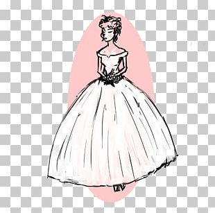 Costume Design Drawing Gown PNG