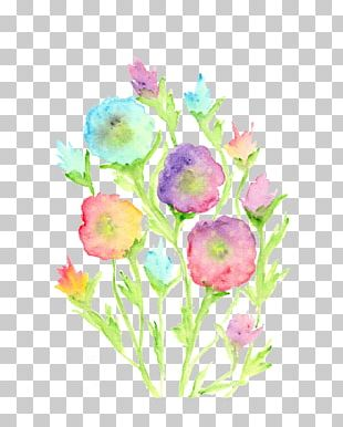 Watercolor Painting: Flowers Floral Design PNG
