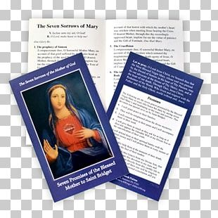 Holy Card Our Lady Of Sorrows Prayer Novena Christianity PNG