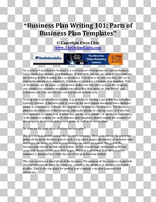 Business Plan Management Business Model PNG
