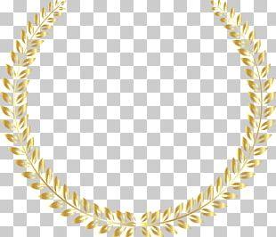 Gold Medal Laurel Wreath Christmas PNG