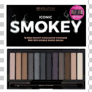 Makeup Revolution Iconic Smokey Eyeshadow Palette Eye Shadow Makeup Revolution Iconic 3 Cosmetics Makeup Revolution Iconic Pro 2 Eyeshadow Palette PNG