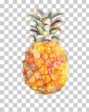 Juice Fruit Watercolor Painting Pineapple PNG
