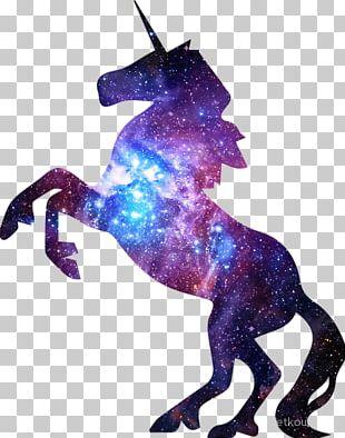 Unicorn Silhouette Stencil PNG