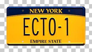 Vehicle License Plates New York City Car Ecto-1 Motor Vehicle Registration PNG