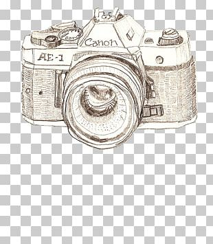 Camera Drawing Canon Photography Art PNG