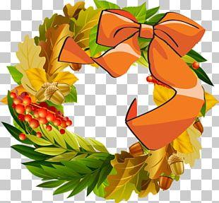 Wreath Thanksgiving Autumn PNG