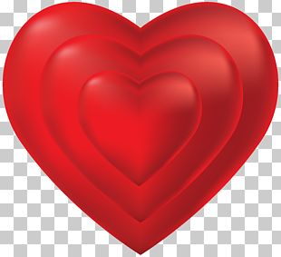 Red Heart Valentine's Day Design PNG