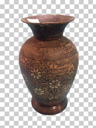 Vase Ceramic Pottery India Floral Design PNG