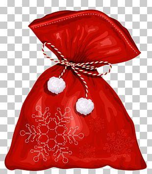 Santa Claus Christmas Bag PNG