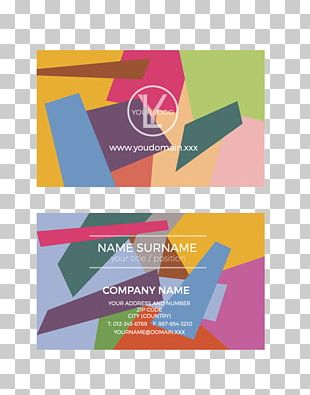 Business Card Design Paper PNG