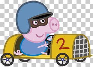 Granny Pig Grandpa Pig George's Racing Car T-shirt Amazon.com PNG