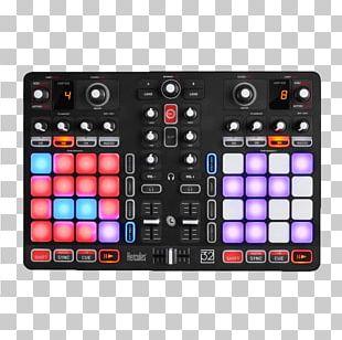 DJ Controller Hercules P32 DJING Disc Jockey Audio Mixers PNG