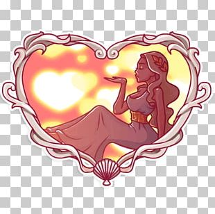 Sticker Aphrodite Telegram VKontakte PNG