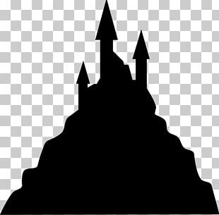 Silhouette Haunted House PNG