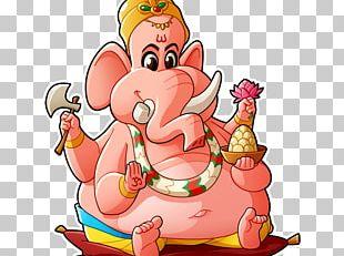 Ganesha Drawing Cartoon Character Sketch PNG