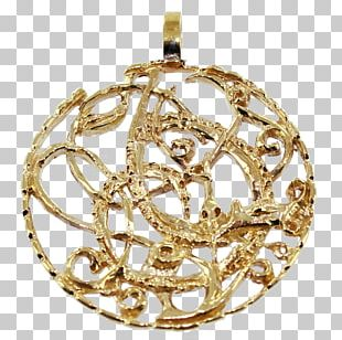 Locket Christmas Ornament Bling-bling Gold PNG