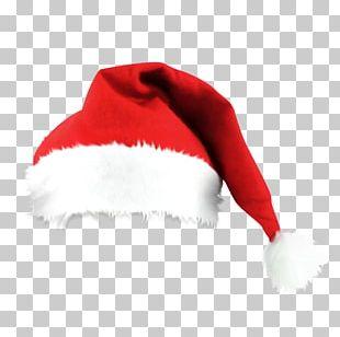 Santa Claus Bonnet Gift Knit Cap Hat PNG