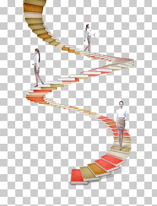 Stairs Helix Paper Ladder PNG