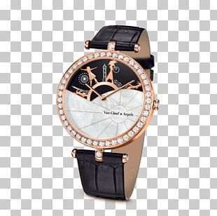 Watch Van Cleef & Arpels Jewellery Complication Clock PNG