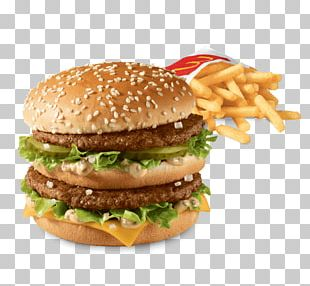 Hamburger McDonald's Big Mac Cheeseburger Veggie Burger Fast Food PNG
