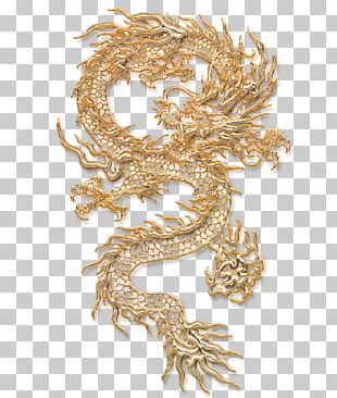 Chinese Dragon Tattoo Illustration PNG