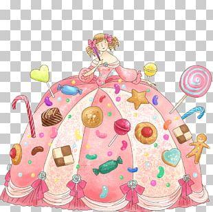 A Little Princess Cartoon Illustration PNG