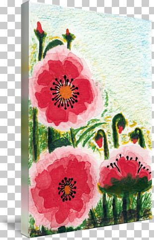 Floral Design Watercolor Painting Acrylic Paint PNG
