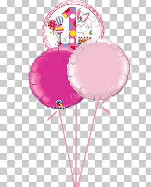 Toy Balloon Pink Birthday Party PNG