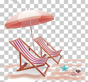Beach Chair Umbrella PNG
