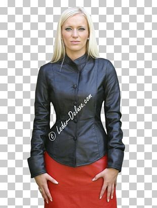 Leather Jacket T-shirt Artificial Leather PNG